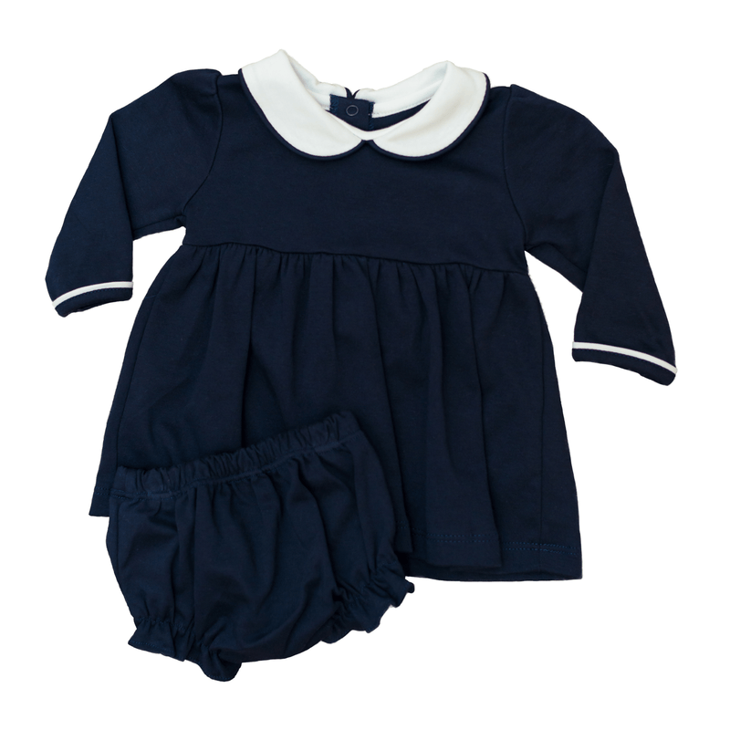 Bambinos Trinity Twirl Dress- Navy