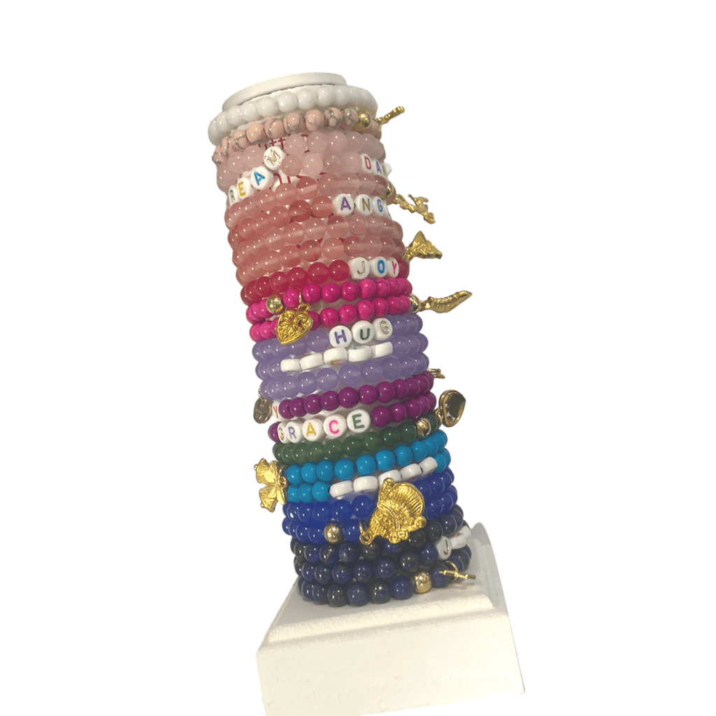 Little Miss Zoe Gemstone Word Bracelet - Holiday Edition