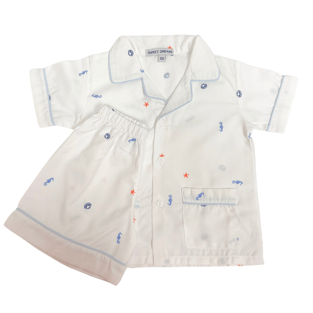 Sweet Dreams Sealife Boy Short Pajamas