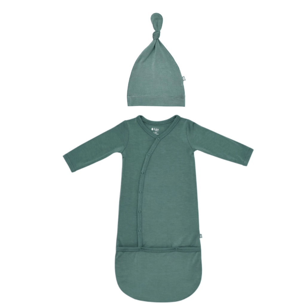 Kyte Baby Bundler and Knotted Hat Set- Pine