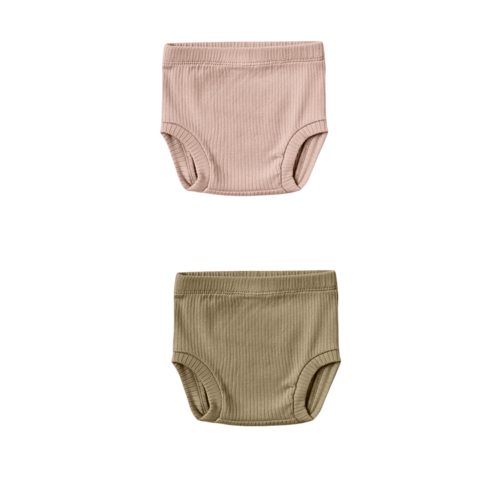 Quincy Mae Organic Ribbed Bloomers