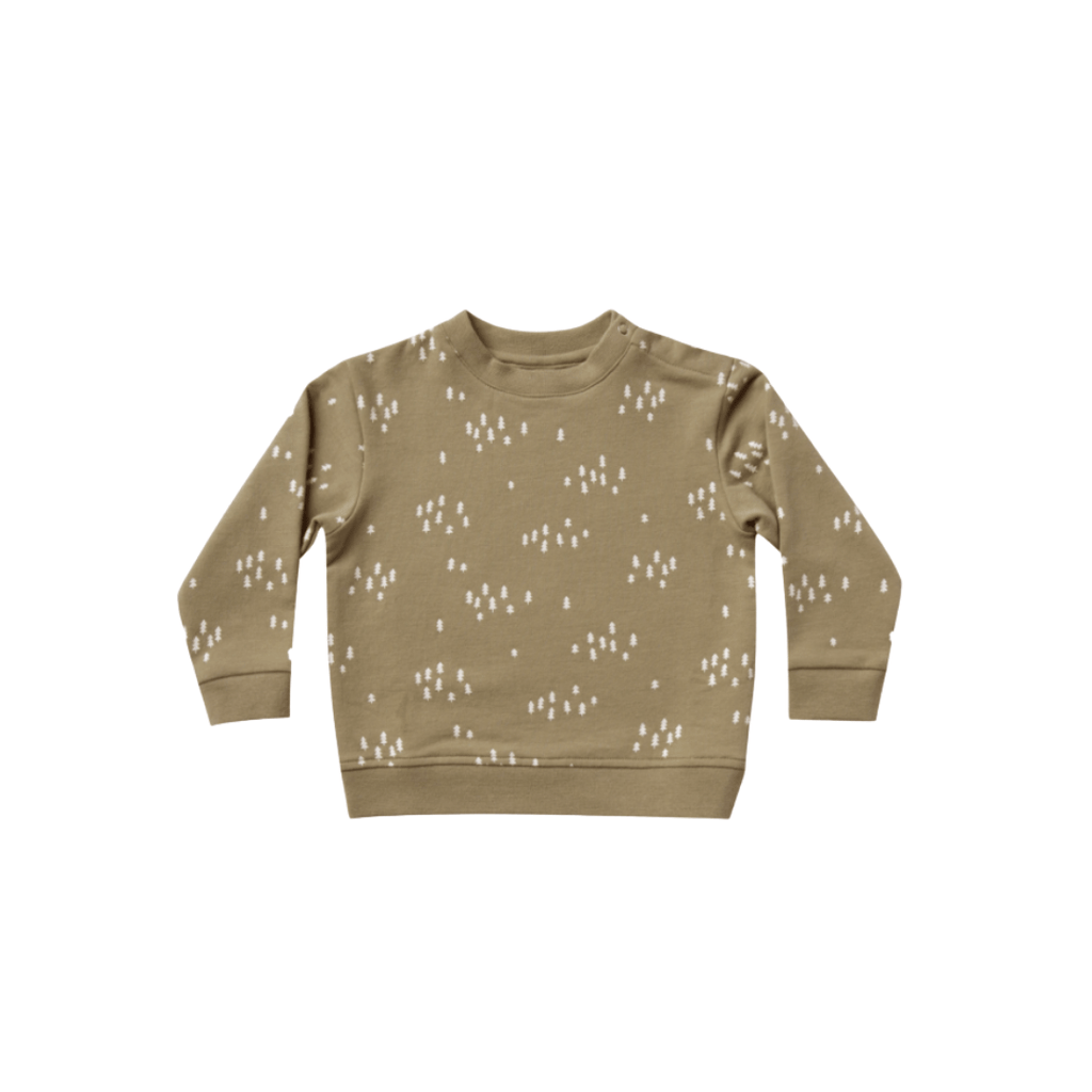 Quincy Mae Organic Fleece Sweatshirt - Olive