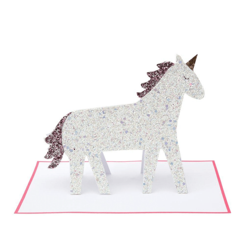 Unicorn Glitter Card