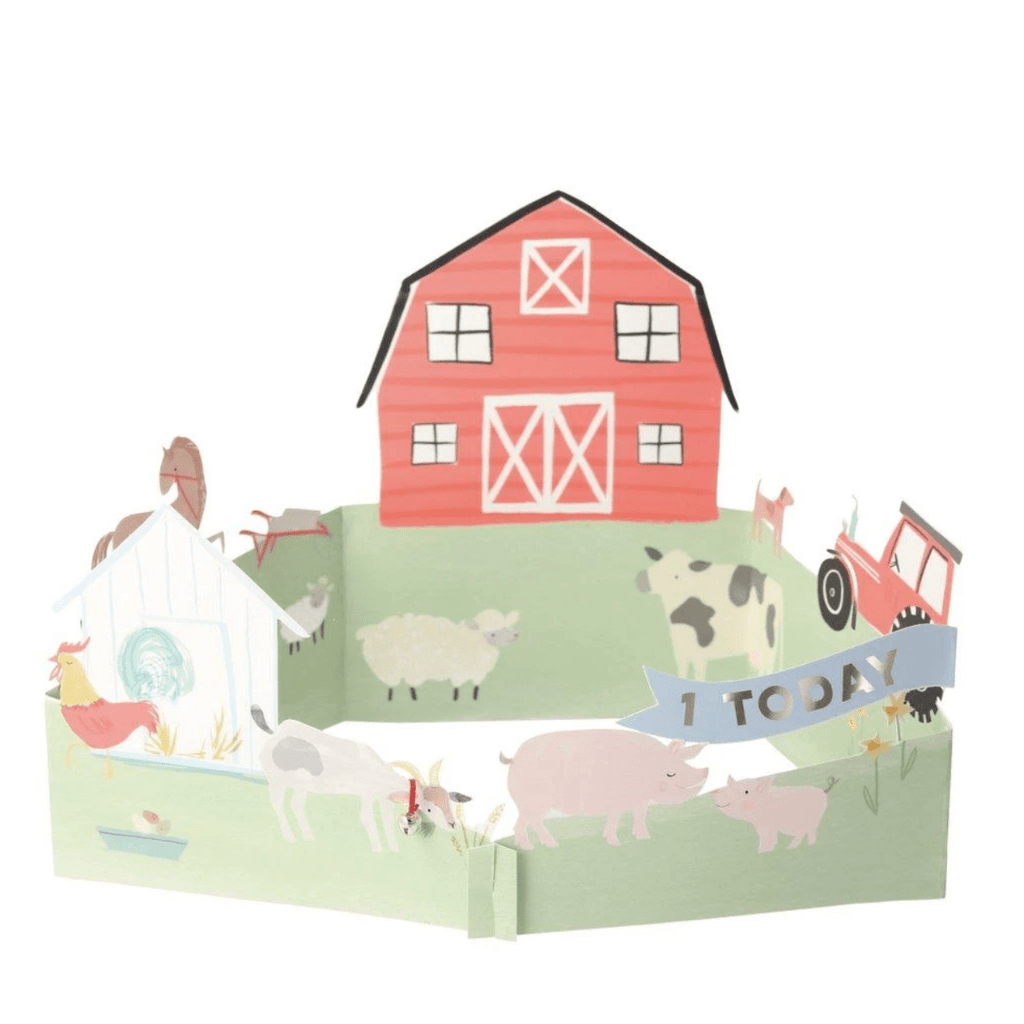 On The Farm 3D Card