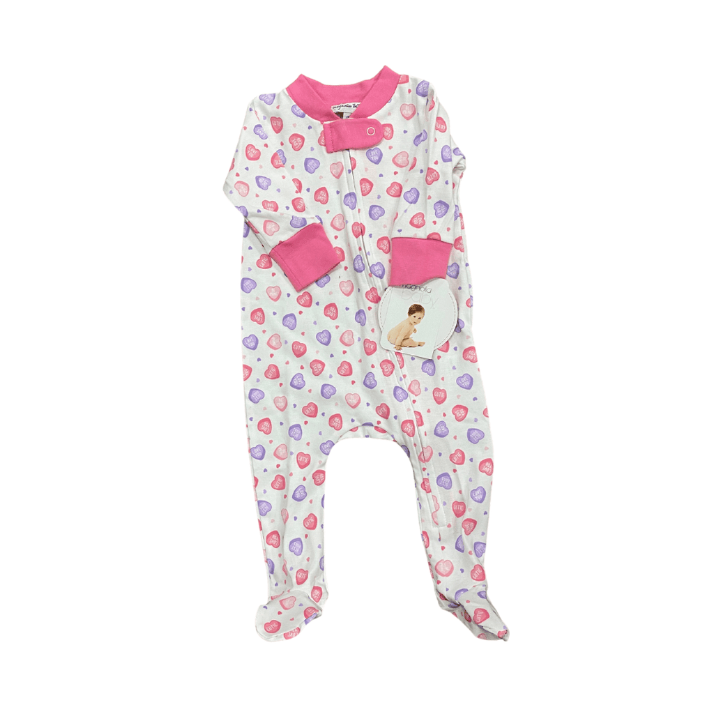 Magnolia Baby Lil' Sweetheart Printed Zipper Footie