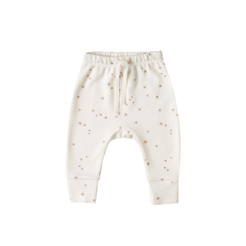 Quincy Mae Drawstring Pant Organic Brushed Jersey - Ivory