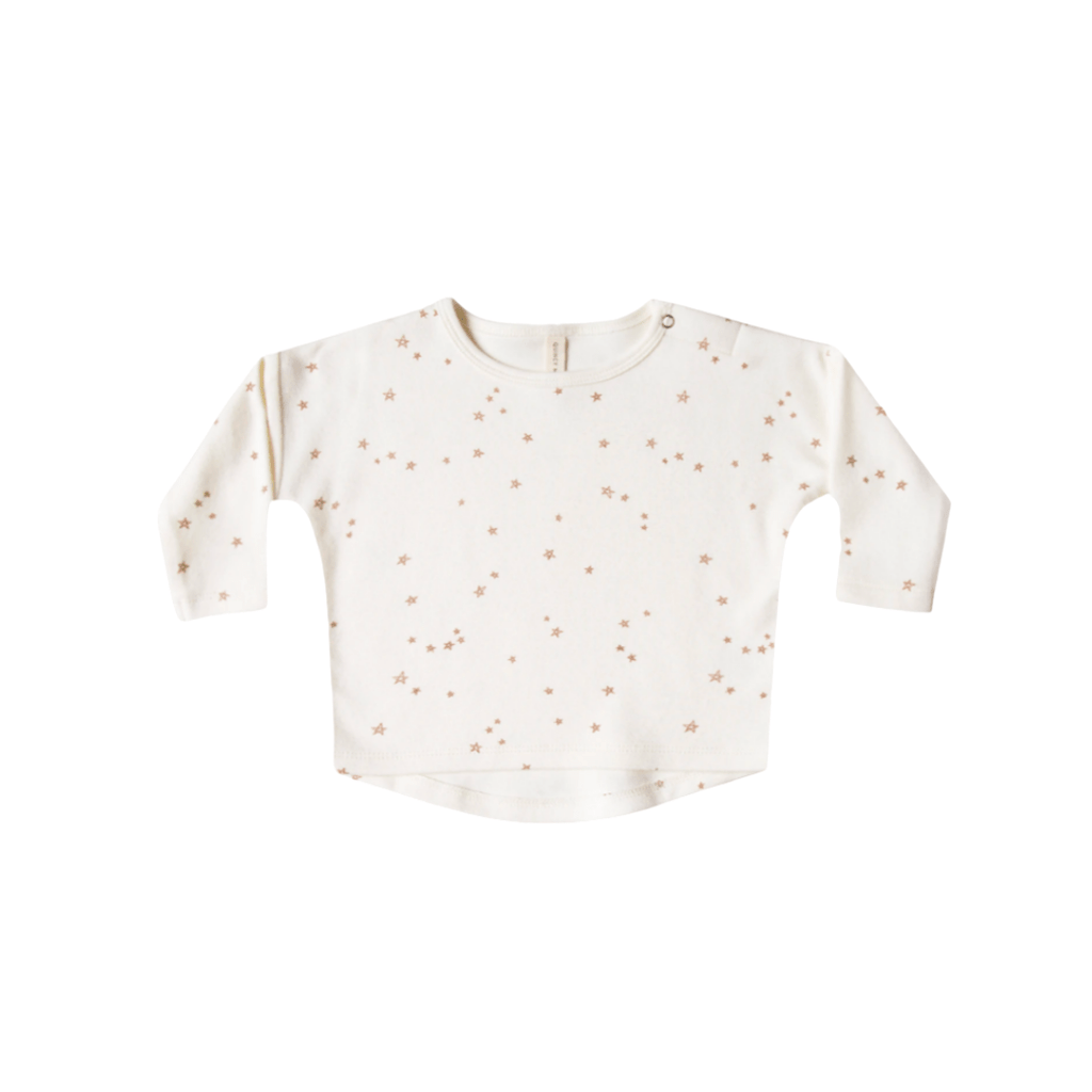 Quincy Mae Long Sleeve Tee Organic Brushed Jersey - ivory
