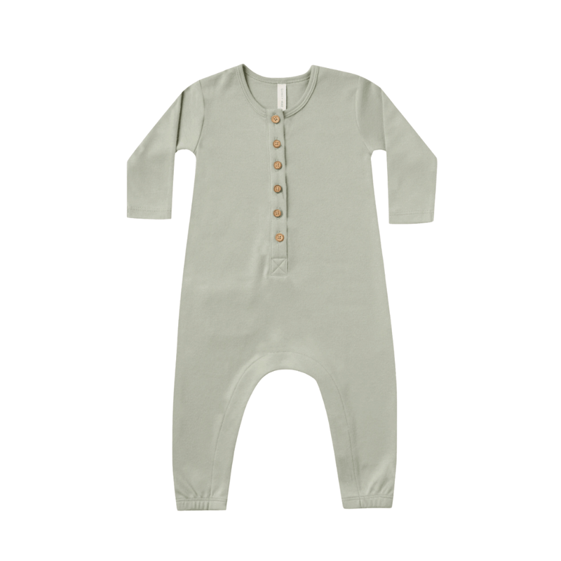 Quincy Mae Longsleeve Jumpsuit Organic Brushed Jersey- Sage