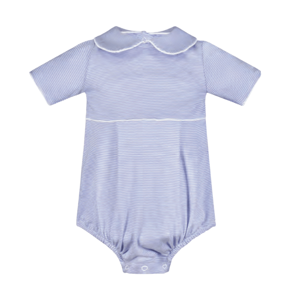 Lila+Hayes Palmer Bubble- Blue and White Stripe