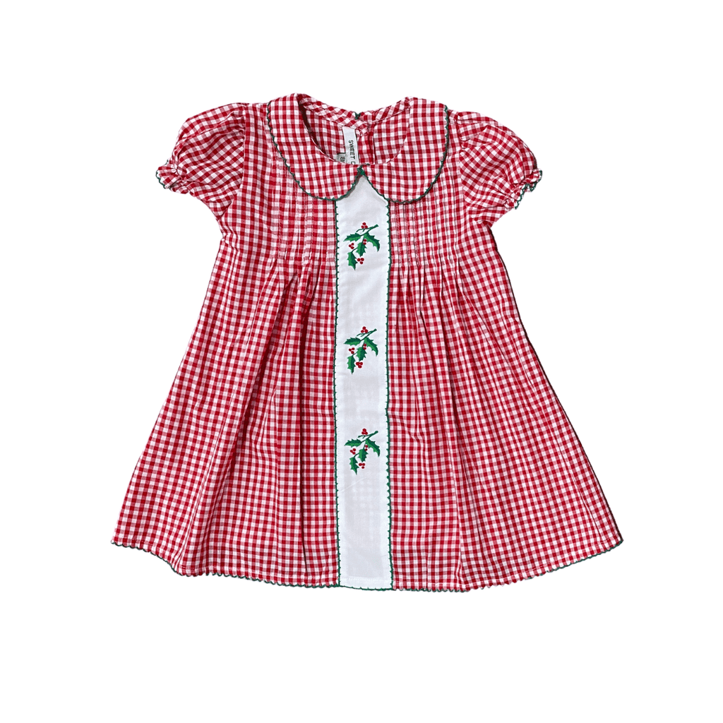 Sweet Dreams Red Gingham Holly Dress