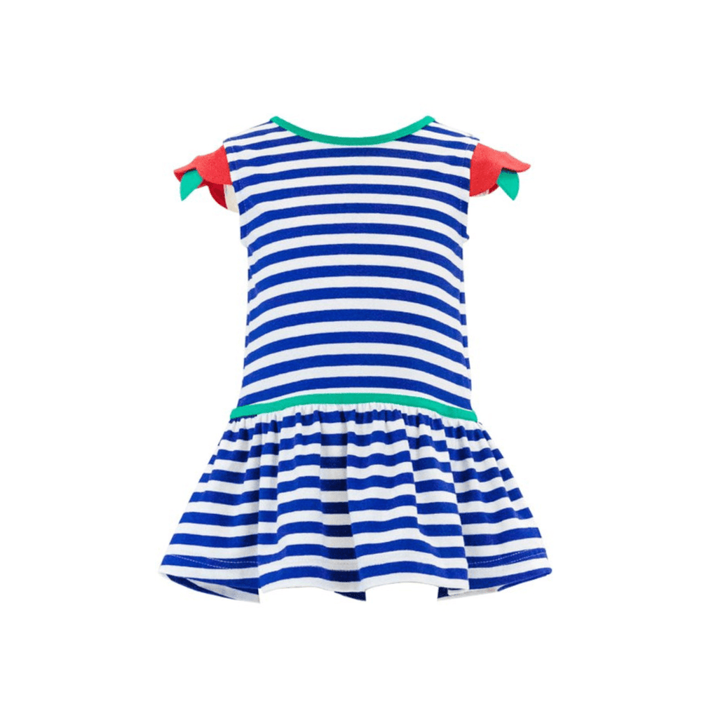 Florence Eiseman Stripe Dress with Flower Sleeves