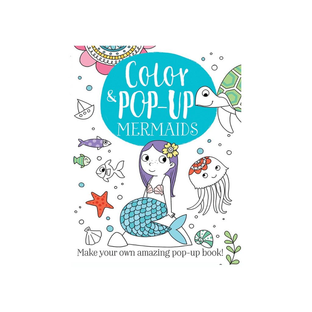 Mermaids Pop Up Color Book
