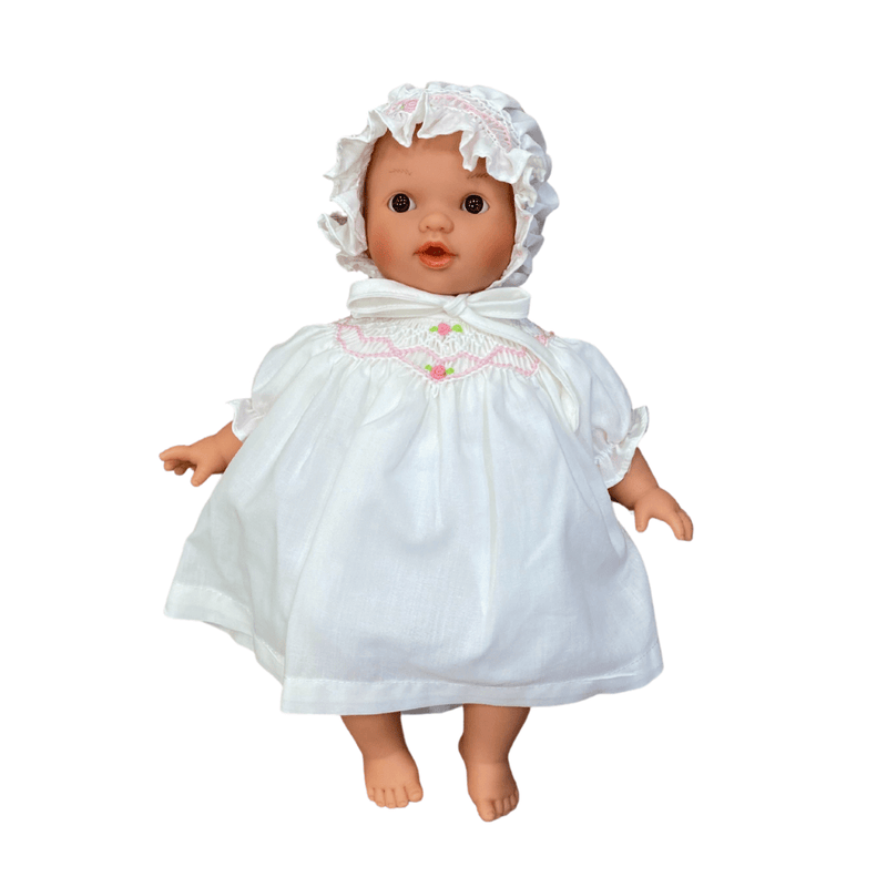 "Rosalina Aubrey Doll with Brown Eyes 10"" with Dress and Bonnet"