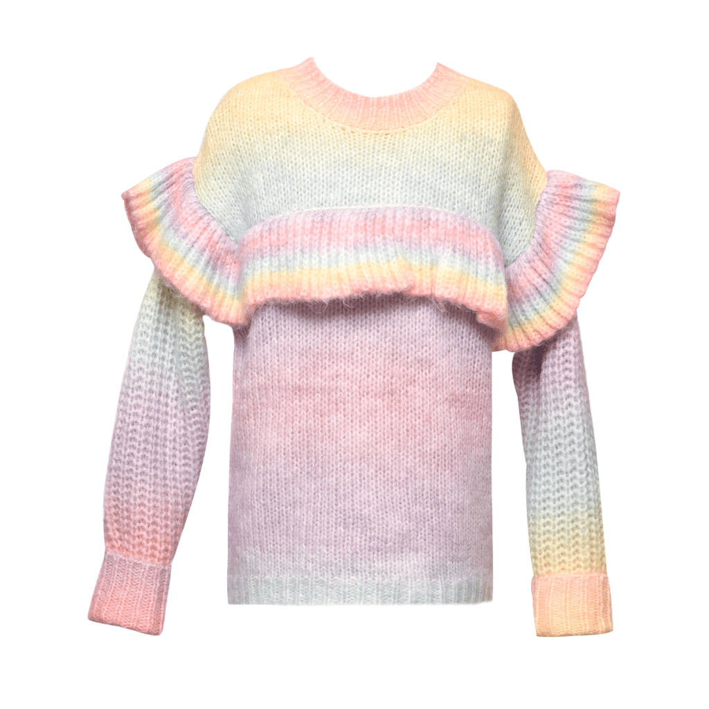 Florence Eiseman Stripe Knit Shortall with Animals