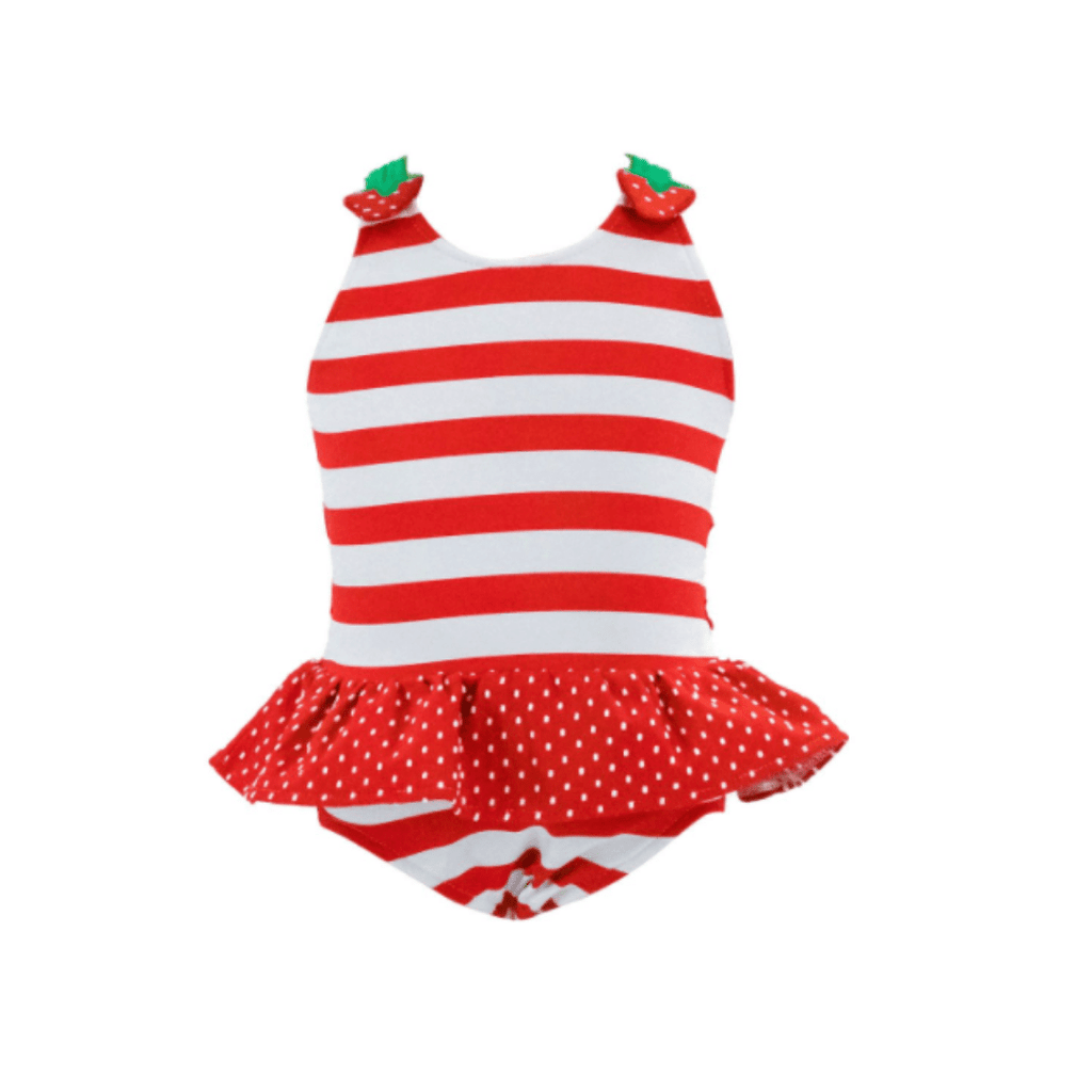 Florence Eiseman Stripe Swimsuit with Strawberries