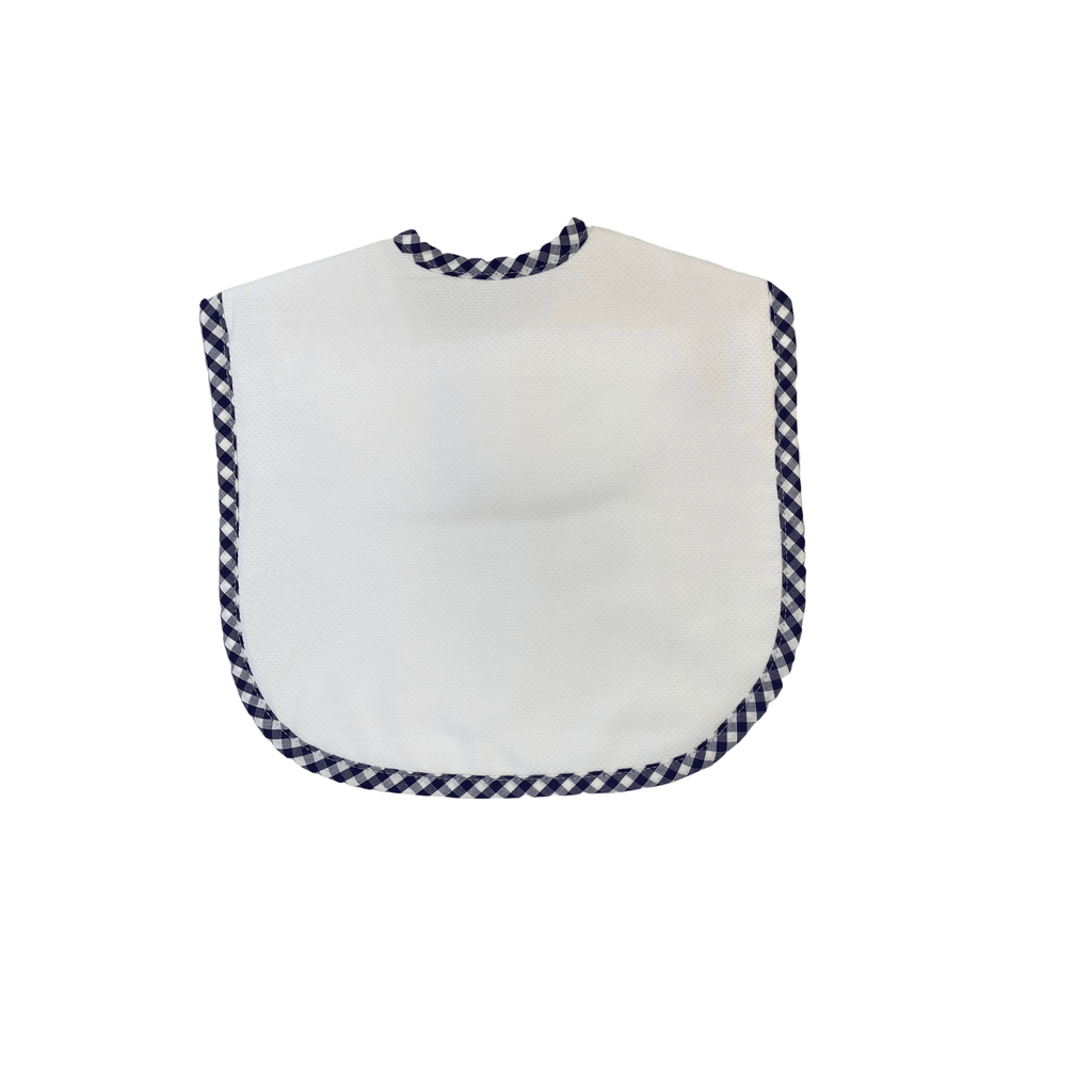 3 Martha's Oversized Bib - Navy Check