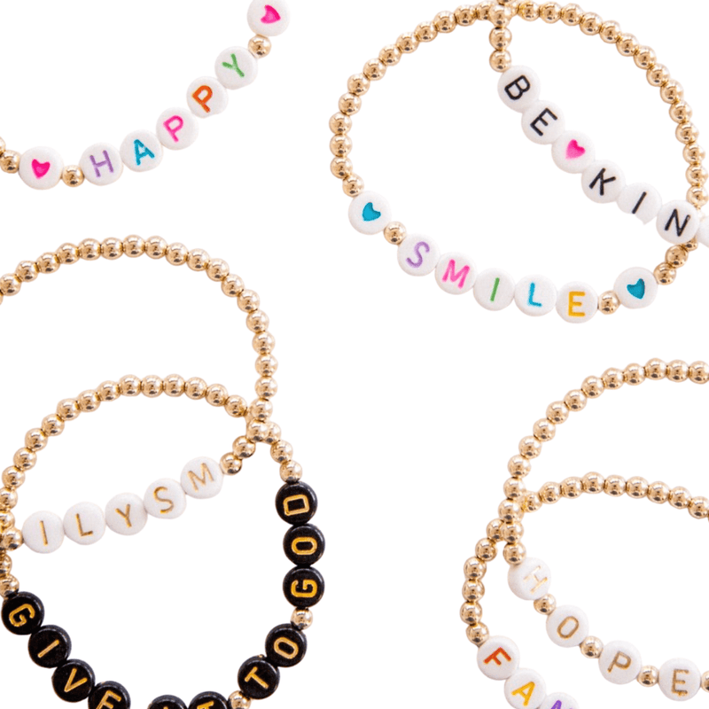 leMel Mantra Everyday Stretch Bracelet