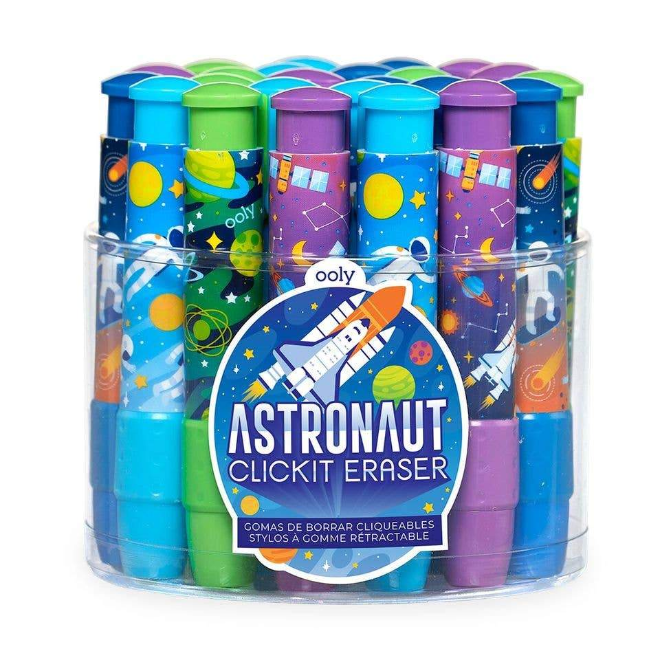 OOLY Astronaut Click It Erasers
