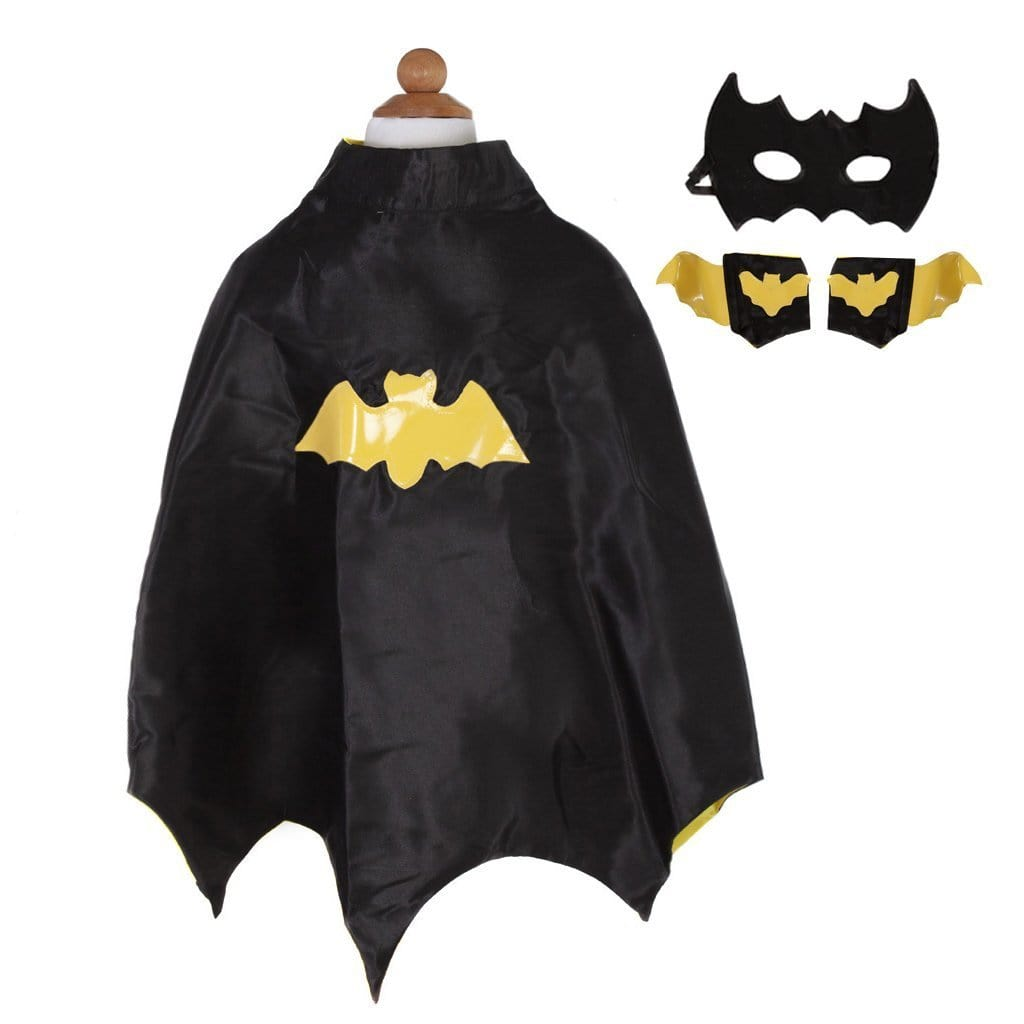 Great Pretenders Bat Cape with Masks & Wristbands (Size 3/4)