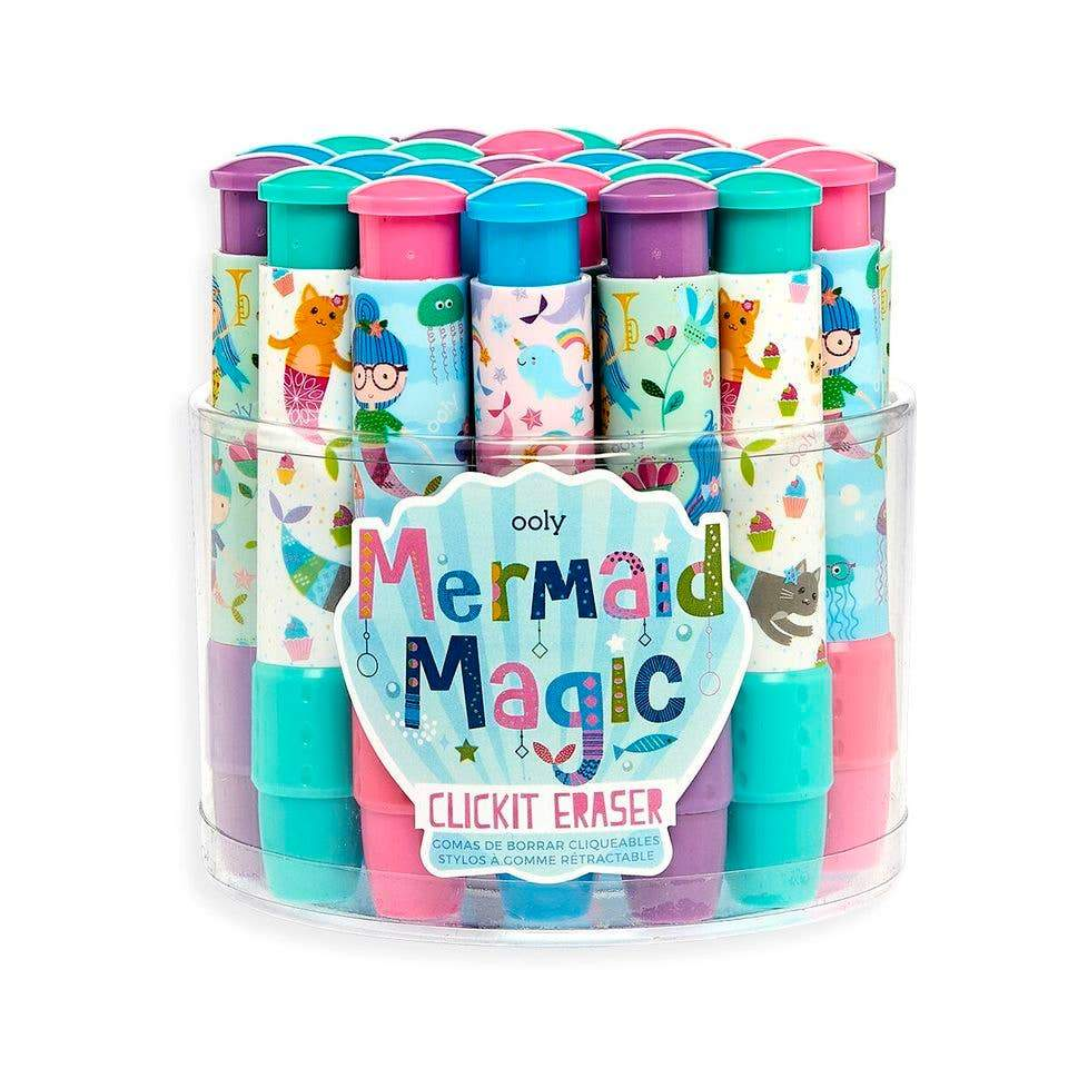 OOLY Mermaid Click It Erasers