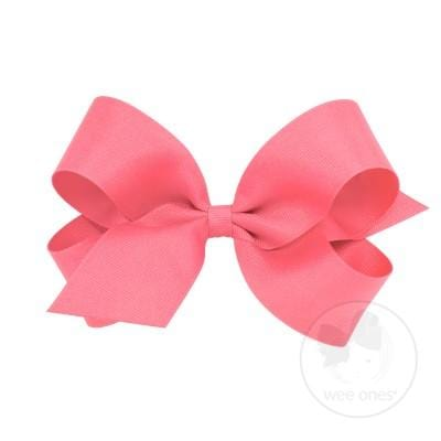 Wee Ones Coral Rose Bow