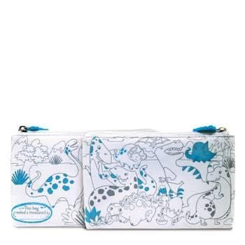 creative coloring carry all pouch- dinosaur world
