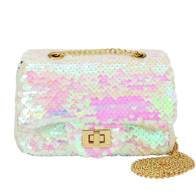 Henny and Coco Paris Crossbody - White Pink Sequin