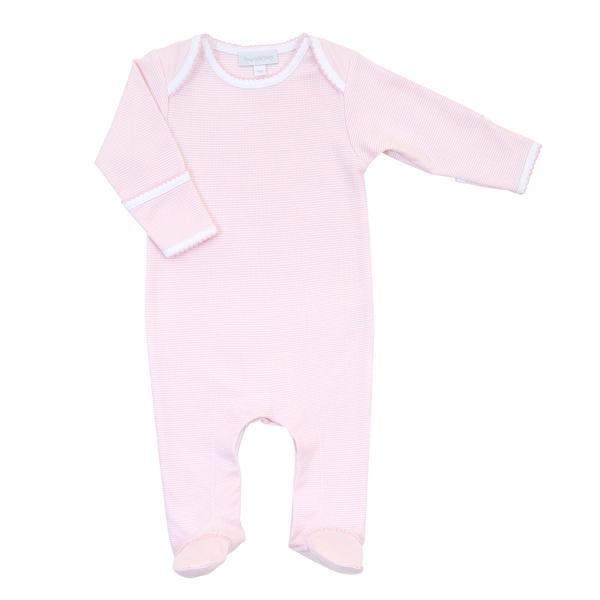 Magnolia Baby Mini Stripe Essentials Lap Footie - Pink
