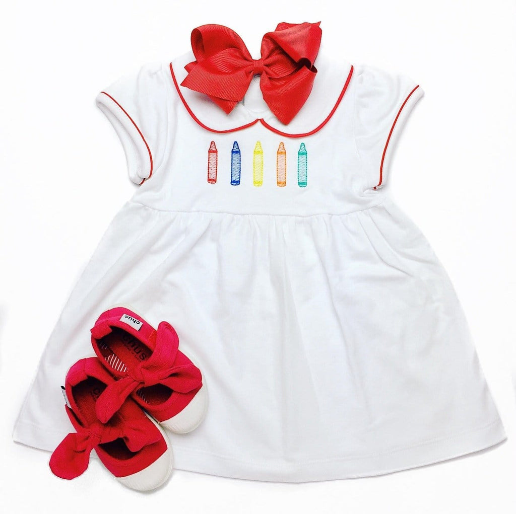 Bambinos Red and White Trinity Twirl Dress