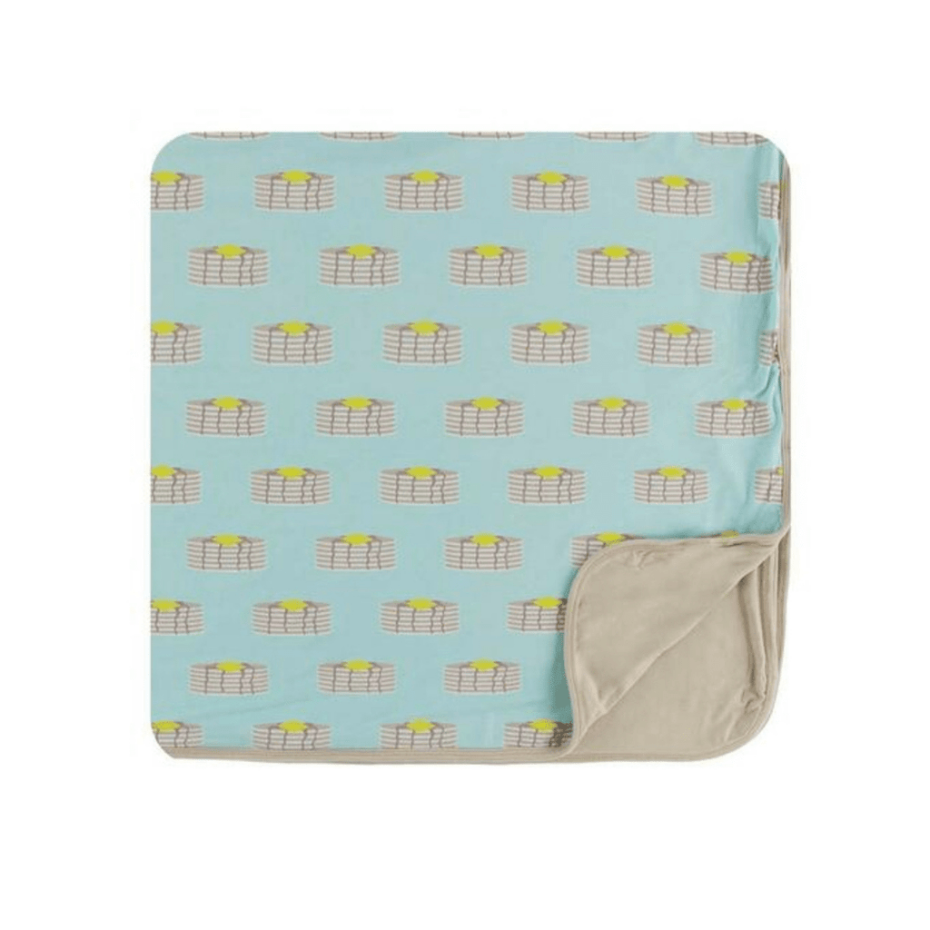 Kickee Pants Print Toddler Blanket- Summer Sky Pancakes