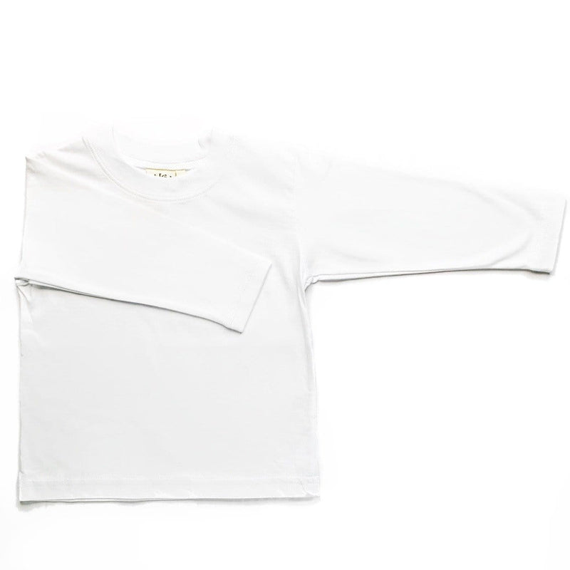 Luigi Kids Long Sleeve White Top