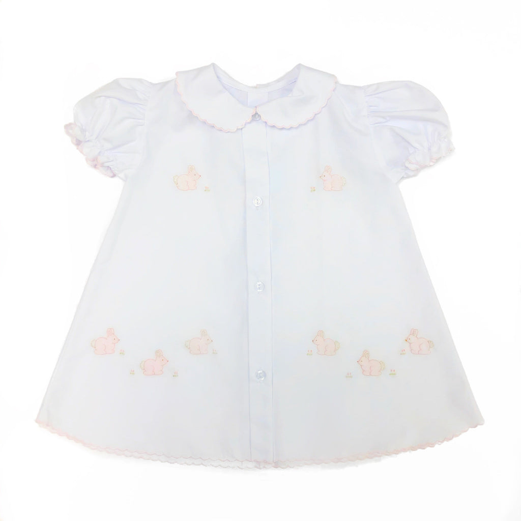 Auraluz Girl Day Gown With Pink Bunnies