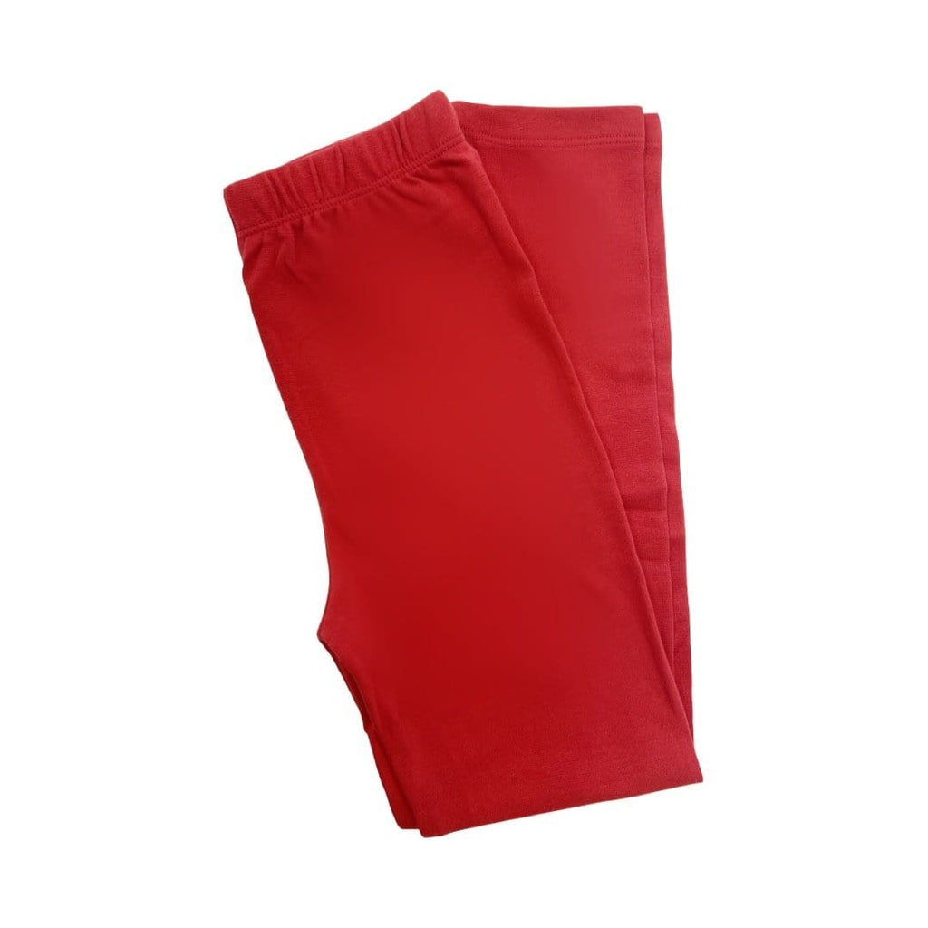 Luigi Kids Straight Leggings - Deep Red