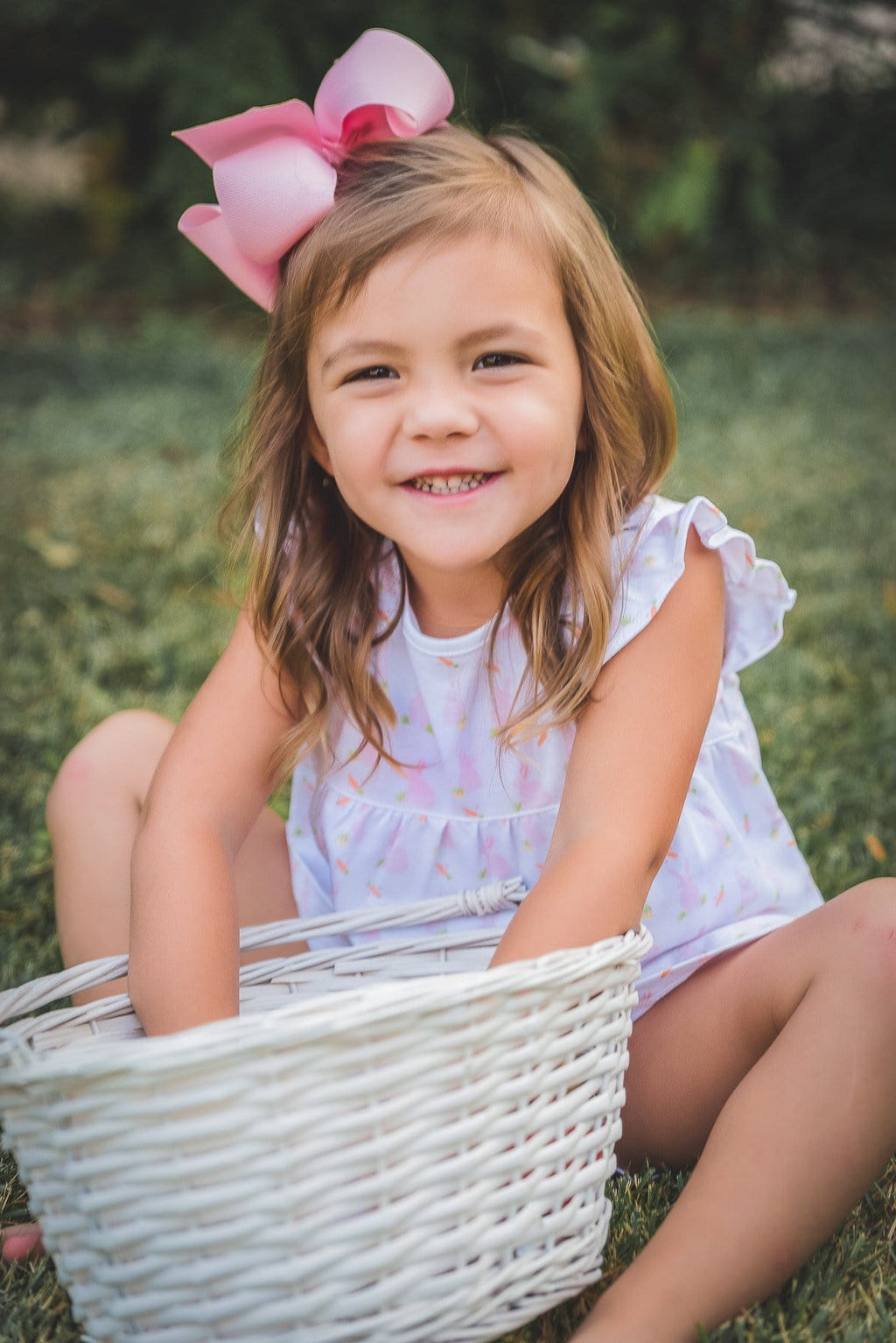 The Proper Peony Pink Bunny Girl Bloomer Set - Spring 2021 Parkside Pima