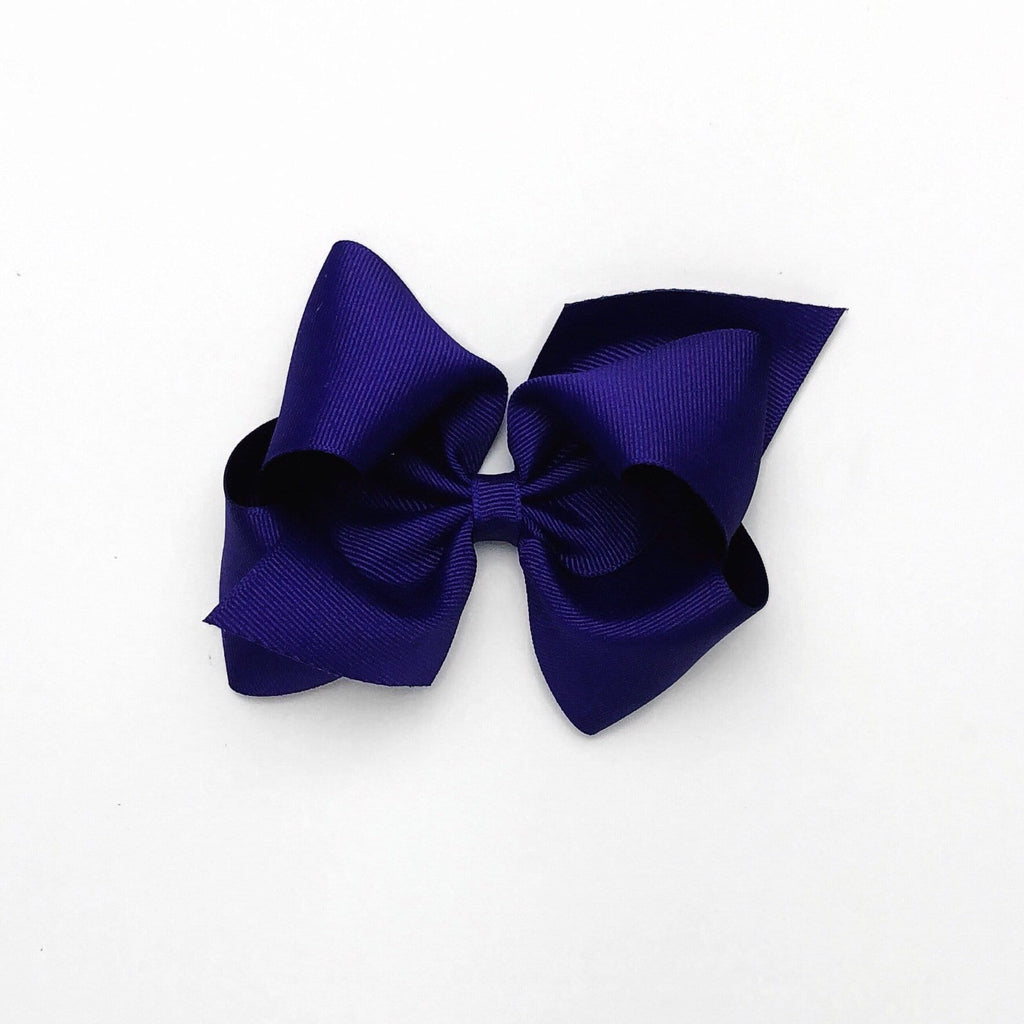 Wee Ones Dark Purple Bow