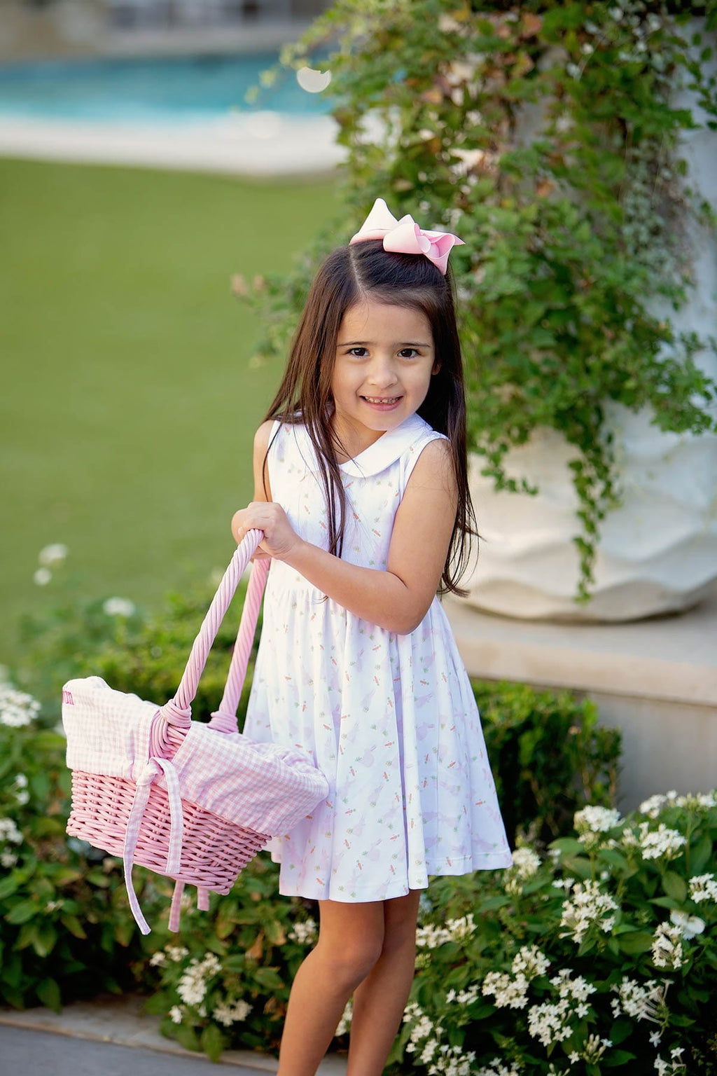 The Proper Peony Pink Bunny Girl Twirl Dress - Spring 2021 Parkside Pima