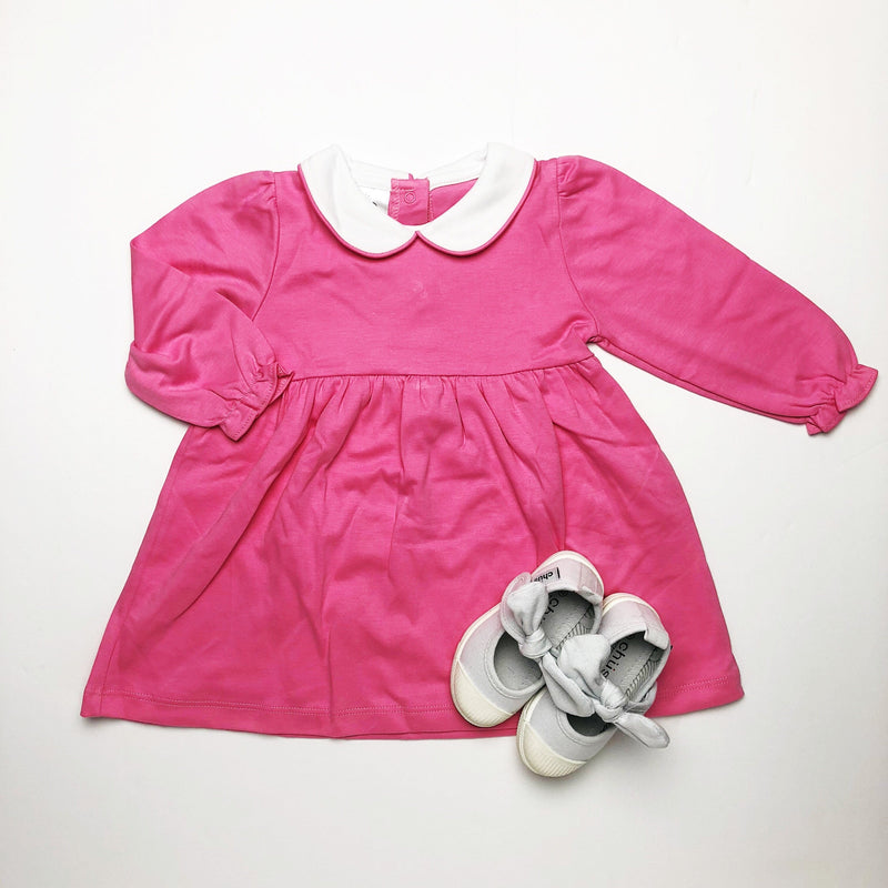Bambinos Satchet Pink Trinity Twirl Dress- Long Sleeves