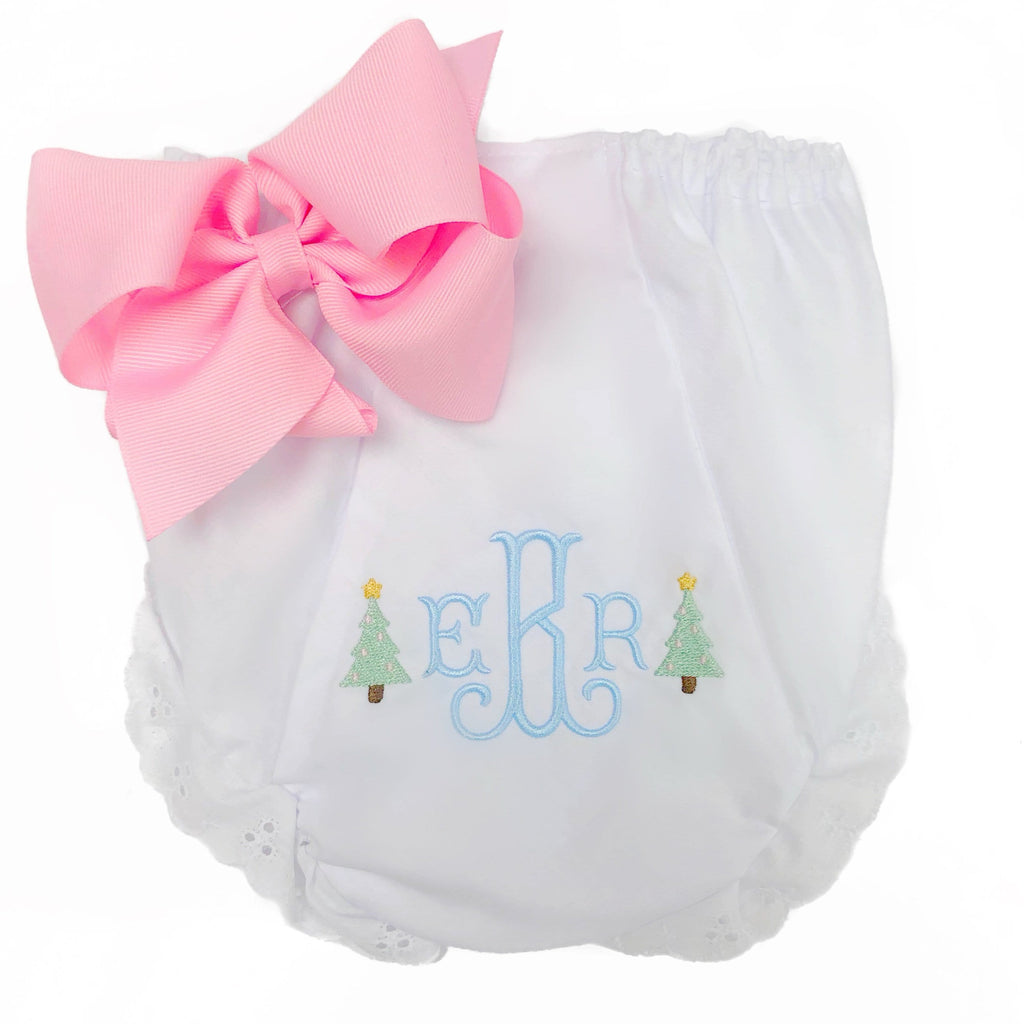 Pastel Christmas Tree Bloomers