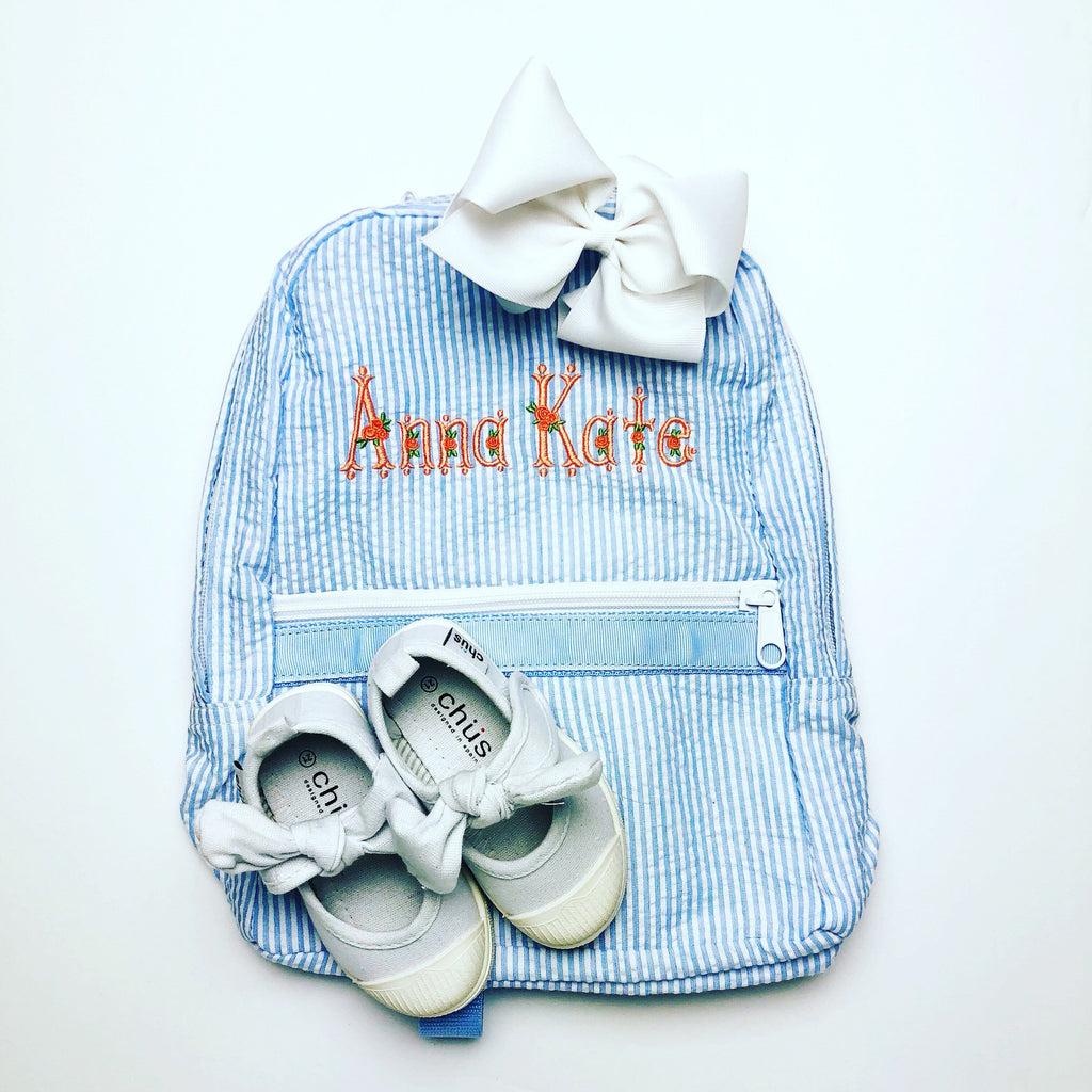 Light Blue Medium Backpack