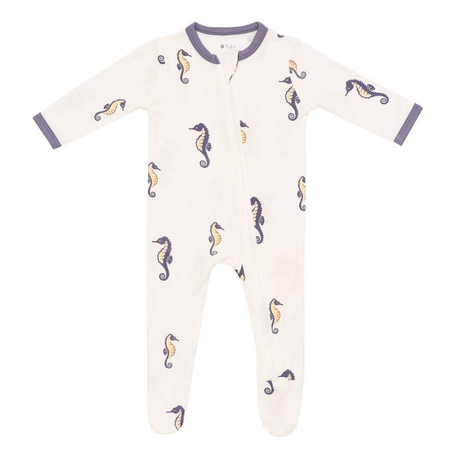 Kyte Baby Sea Horse Zippered Footie