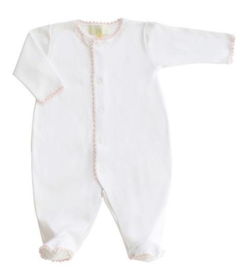 Pixie Lily Jersey Footy Romper - Pink