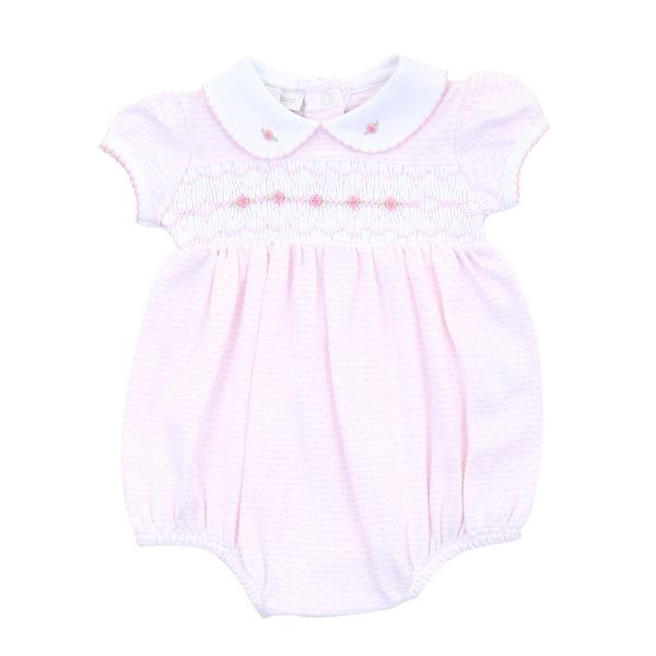 Magnolia Baby Maddy and Michael's Classics Smocked Collared Girl Bubble