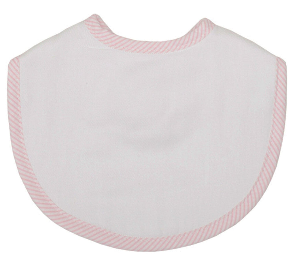3 Martha's Burp Cloth Bib - Pink Stripe