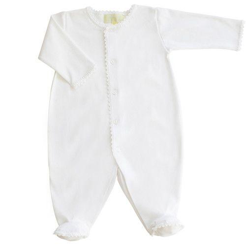 Pixie Lily Jersey Footy Romper - White
