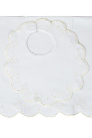 The Proper Peony Layette Scalloped Bib and Burp