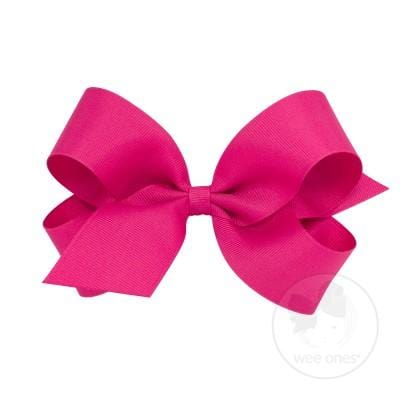 Wee Ones Shocking Pink Bow
