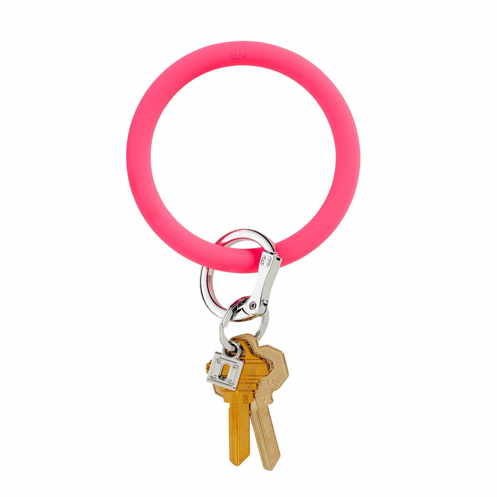 O-venture tickled pink silicOne Big O Key Ring