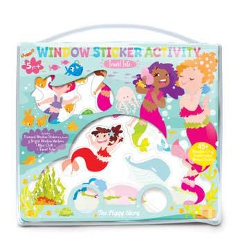 window sticker activity set- magical mermaids