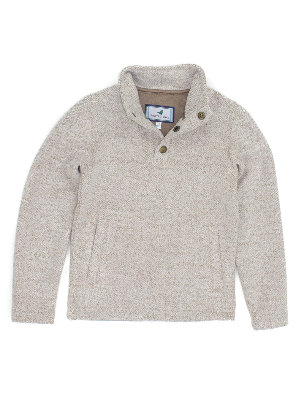 Properly Tied Upland Pullover Cream