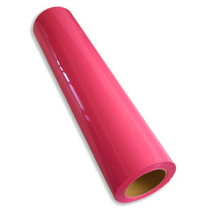 Neon Pink Premium Heat Transfer Vinyl CAD Cut and Easy Weed HPU